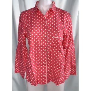 Victoria's Secret XSmall Polka Dot Pajama Shirt